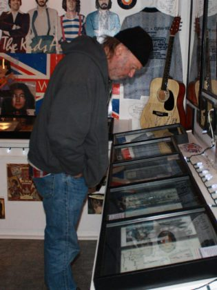 Neil Young visited the Youngtown Rock 'n' Roll Museum in Omemee on October 7, 2010. (Photo: Brenda Hosier)