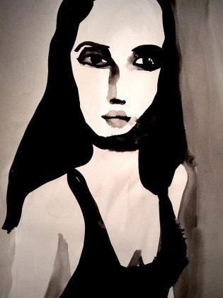 A portrait by artist Shelley Alder. (Photo courtesy of Evans Contemporary)