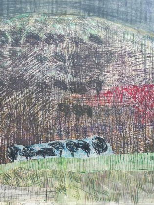 A detail from one for the works by Jane LowBeer on display at the Arts and Heritage Centre of Warkworth. (Photo courtesy of Arts and Heritage Centre of Warkworth)
