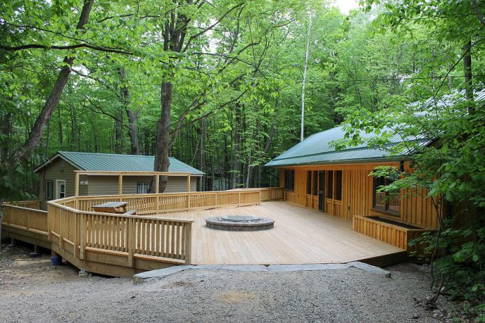 If you're looking for a scenic and relaxing venue for your group's next weekend retreat or team building program, consider renting the camp's rustic, fully winterized pine cabins that vary in size and can accommodate up to a total of 150 people.   (Photo: Camp Kawartha)