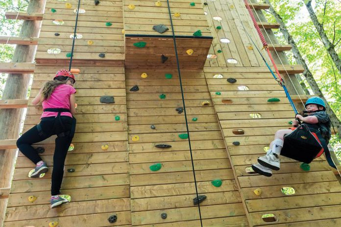 Camp Kawartha's Outdoor Education Centre has a new accessible climbing wall that can accommodate various skill levels and ages, as well as people with disabilities.  (Photo: Camp Kawartha)