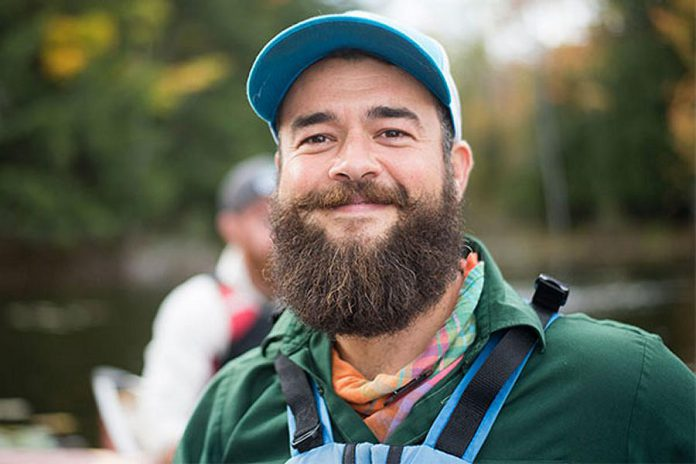 Bretton Clark, Chief Experience Officer at The Land Canadian Adventures, presents a seminar on wild edibles of The Ganaraska on Sunday afternoon.