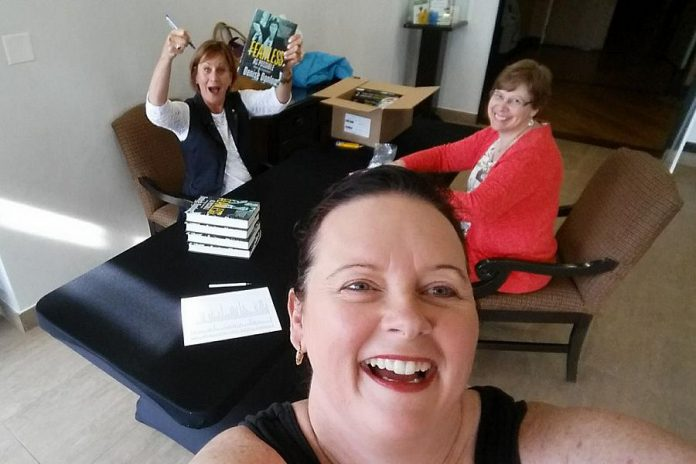 That's a Wrap Catering owner and WBN member Tracey Ormond, shown here taking a selfie with Denise Donlon and WBN Board Member Karen Copson, is one of the many Peterborough-area businesswomen who were inspired by Donlon's message. (Photo: Tracey Ormond)