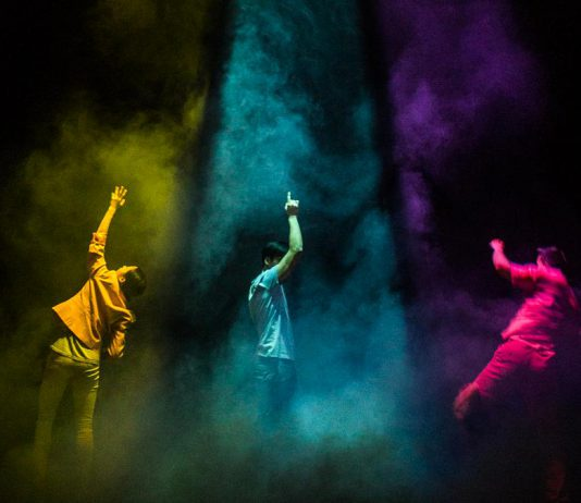 Vancouver-based arts company Hong Kong Exile will perform NINEEIGHT and Room 2048 at the Market Hall in Peterborough on September 21, the first presentation of Public Energy's 2017-18 season. (Photo: Remi Theriault)