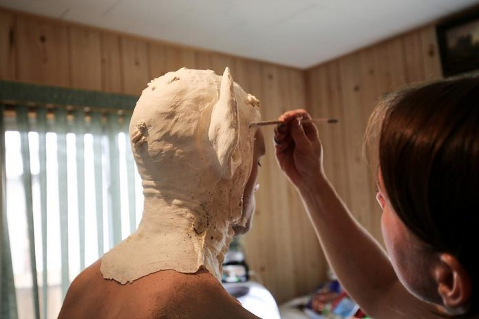 The creature makeup and prosthetics took five hours to apply. (Photo: Bokeh Collective)