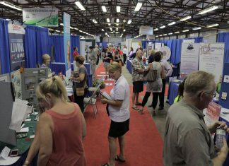 The Peterborough Chamber of Commerce's annual business trade show, LoveLocalPtbo Business Expo, takes place on Wednesday, September 27th from noon to 7 p.m. at the Morrow Building in Peterborough, with more than 110 local businesses participating. As well as the Networking Cafe, the event features the Holistic Health and Wellness Zone, The Start and Grow Zone, The Innovation Zone, and The Green Business Zone. New to the Green Business Zone this year is the Water Wagon, where attendees can refill their water bottles for free. (Photo: Peterborough Chamber of Commerce)