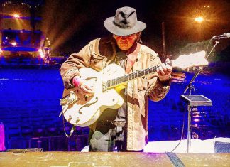 Neil Young at soundcheck for the Farm Aid Concert held Saturday, September 16 in Pennsylvania. The legendary performer, who spent his childhood years in nearby Omemee, is being inducted into Canadian Songwriters Hall of Fame on September 23, 2017.