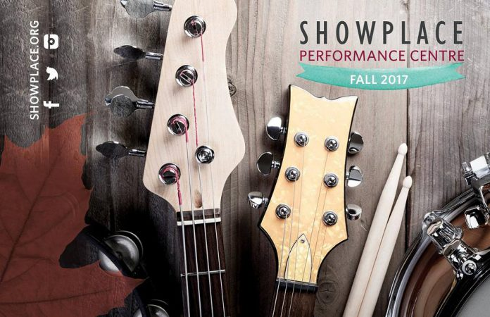 Showplace Performance Centre has a full line-up of 24 shows for fall 2017 in both the Nexicom Studio and the main stage, with tickets available at the Darling Insurance Box Office -- naming rights are one source of revenue for the not-for-profit organization. (Design: Amy Leclair)
