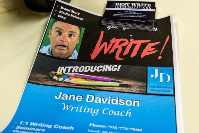 Jane Davidson of Best Write Communications, in the City of Peterborough, is a communications specialist developing and delivering online courses and coaching.  (Photo: Tyler Wilson)
