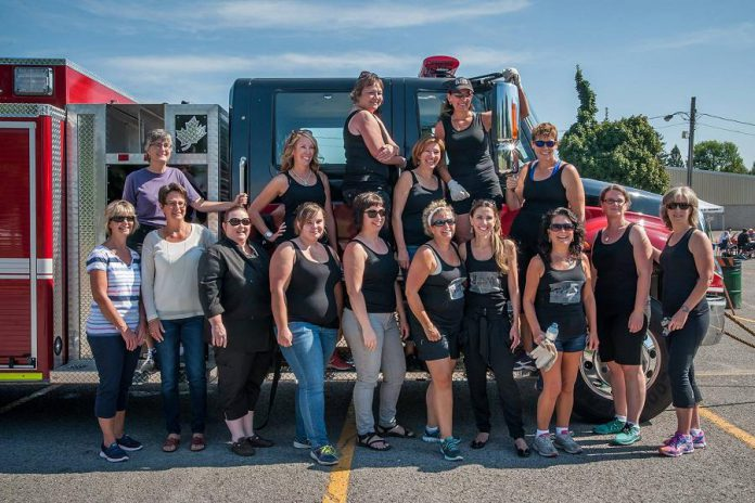 "WBN member Susan Dunkley organized the inaugural ""Pulling for Dementia"" fire truck pull in aid of the Alzheimer's Society in 2015 when she worked for the organization. If a WBN member is involved in a good cause, you will often see a WBN team there to support the event. (Photo: WBN)"