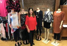 Trish Dougherty, owner of The Kawartha Store in Fenelon Falls, a 5,000-square-foot clothing, shoes, and gift emporium for women and men.