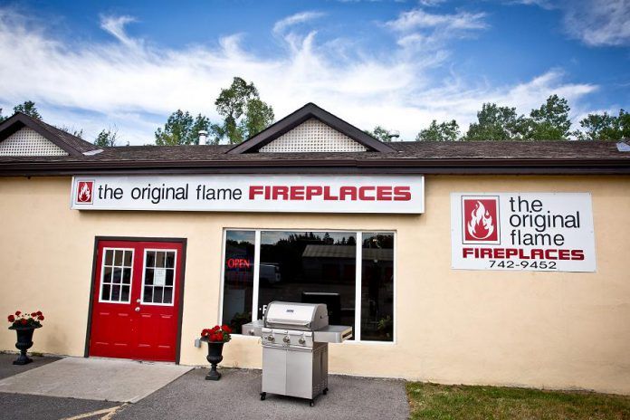 The Original Flame showroom, located at 982 Highway 7 East in Peterborough, is open six days a week.