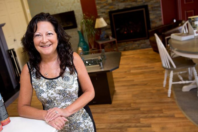 Michele Kadwell-Chalmers, founder of The Original Flame boutique fireplace company, believes a fireplace is a great way to bring your family together or to relax and let your troubles melt away.
