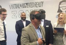 Peterborough-based digital startup Kavtek Software Corporation launched a pilot project for its augmented and virtual reality platforms in the Innovation Cluster's new 'Virtual & Augmented Reality Zone' on October 11, 2017. (Photo: Innovation Cluster Peterborough and the Kawarthas)