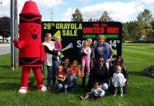 The 29th annual Crayola Sale for the United Way for the City of Kawartha Lakes takes place from 8 a.m. to 12 p.m. on Saturday, October 14 at the LEX Fairgrounds in Lindsay. (Photo: United Way for the City of Kawartha Lakes)