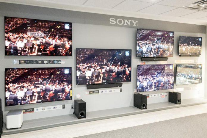 The new Sony Wall at Kawartha TV & Stereo.