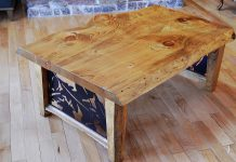 A pine slab coffee table from The Buckhorn Furniture Company, one of the newest members of the Kawartha Chamber of Commerce and Tourism. (Photo: The Buckhorn Furniture Company)