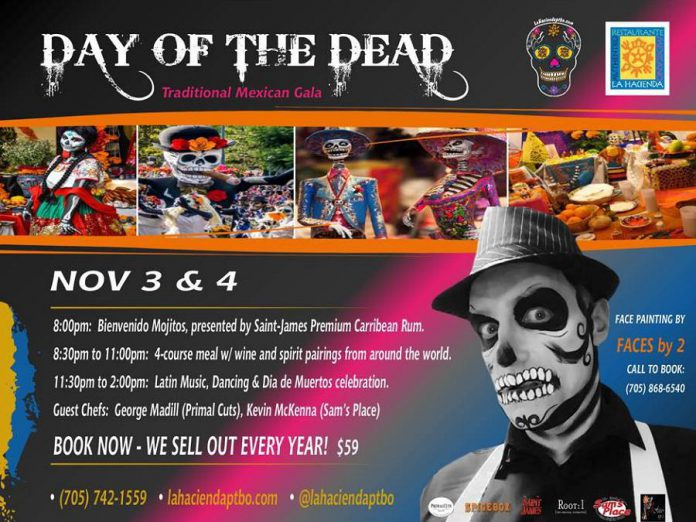 Book now for this year's Day of the Dead celebration at La Hacienda. (Graphic: La Hacienda Mexican Restaurant)