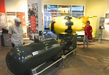 """Replicas of """"Little Boy"""" and """"Fat Man"""", the atomic bombs dropped on Hiroshima and Nagasaki respectively, at the Bradbury Science Museum at Los Alamos in New Mexico. The radioctive ore used to create the uranium core of """"Little Boy"""" was mined in Canada's north and then transported by indigenous labourers, who were never warned about the dangers of the radiation. (Photo: Larry Lamsa / Flickr)"""