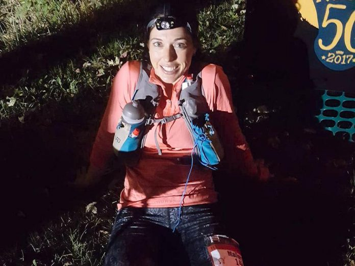 Peterborough native Mallory Richard after her record-setting trail run at The Hennepin Hundred on October 7, 2017. (Photo: Mallory Richard / Instagram)