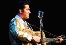 "Toronto-based Elvis tribute artist Matt Cage, who has placed first several times at the world's largest Elvis festival in Collingwood, will be performing the songs of Elvis Presley at ""Christmas With The King"", an Elvis tribute concert at Showplace performance. (Photo: Matt Cage)"
