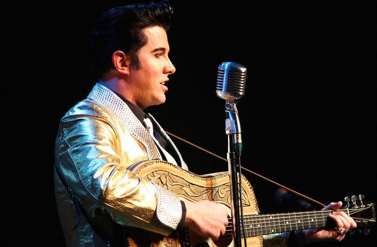 """Toronto-based Elvis tribute artist Matt Cage, who has placed first several times at the world's largest Elvis festival in Collingwood, will be performing the songs of Elvis Presley at """"Christmas With The King"""", an Elvis tribute concert at Showplace performance. (Photo: Matt Cage)"""