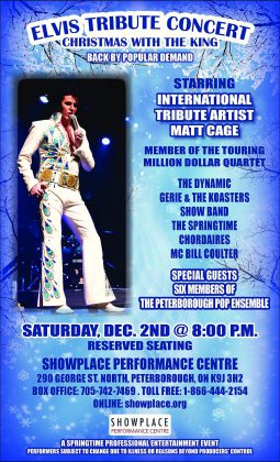 """Tickets for """"Christmas With The King"""" at Showplace in Peterborough on December 2 are $36 for reserved seating, available now at Showplace. (Poster: Springtime Professional Entertainment)"""