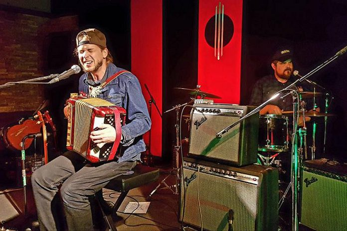Peterborough fuzz-folk duo Mayhemingways (Benj Rowland and Josh Fewings) perform at Marley's in Buckhorn on Friday, October 6th. This will your last chance to see them before they head off on their first European tour later this month and in November. (Photo: Kevin Warren / Facebook)