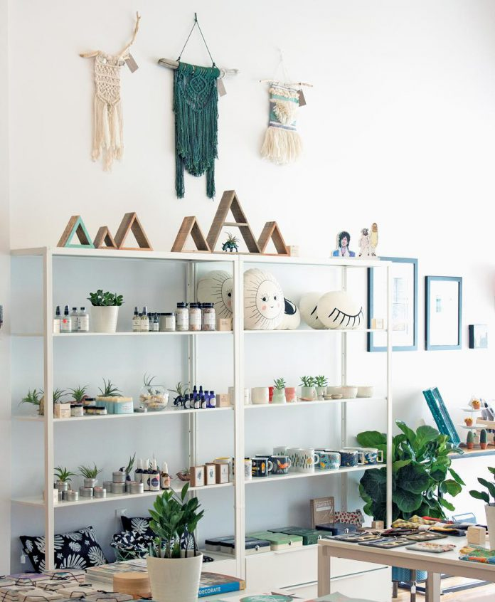 The gift boutique has everything you need from jewellery, textiles, embroidery, ceramics, vegan personal care products, paper goods, home decor, and kids' items ... all diverging from the norm. (Photo: Watson & Lou)