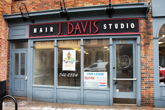 This space at 447 George Street, just north of Brock Street, is one of seven spaces in downtown Peterborough available to be won. (Photo: Win This Space)