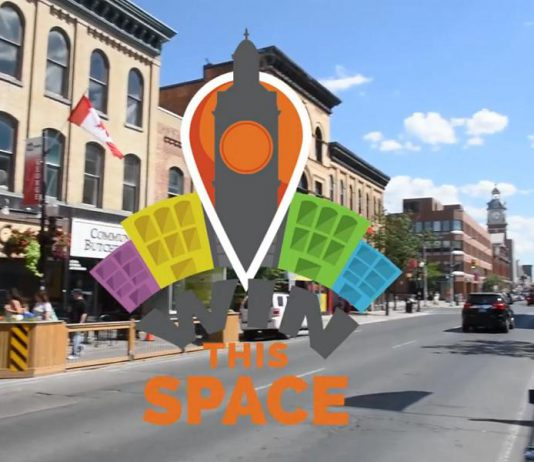 For the 2018 Win This Space competition in downtown Peterborough, entrepreneurs have until November 25th to submit a one- to three-minute video pitching their business idea. The top 10 finalists will be selected by November 30th, with the final winner announced in March 2018. (Graphic: Win This Space)