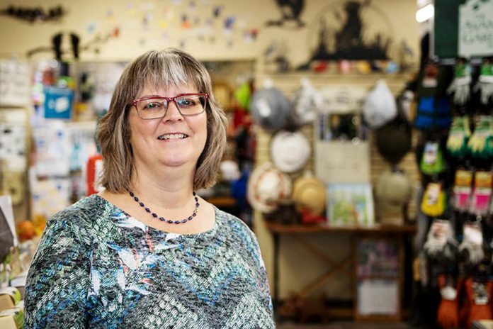 Owner Brenda Ibey is an advocate of the shop local movement, and is proud to say that she personally knows some of the people and the stories behind many of the collections her store carries. This year she's celebrating 15 years of business and recently won the Customer First award at the Peterborough Business Excellence Awards. (Photo: Peterborough DBIA)