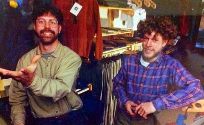 Scott Murison and Kieran Andrews in the 1990s after launching Wild Rock Outfitters, which has been serving outdoor athletes and enthusiasts for 25 years. (Photo: Michael Cullen)