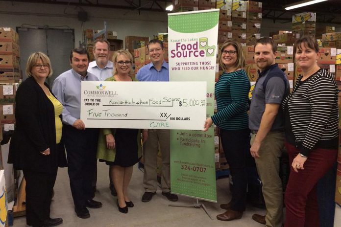 Commonwell donated $5,000 in November to Kawartha Lakes Food Source. (Photo: The Commonwell Mutual Insurance Group)