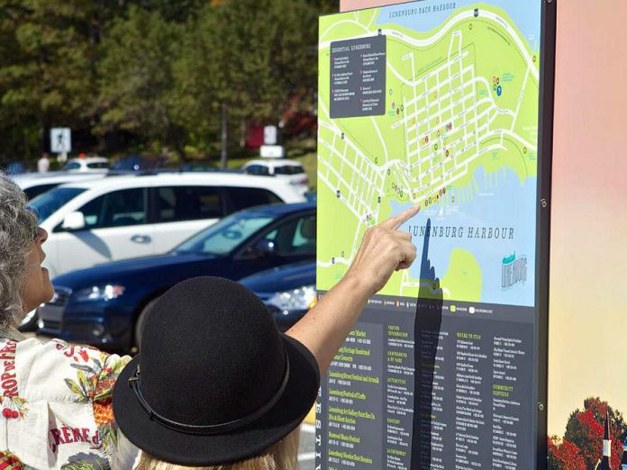 To address tourism-related signage needs, Peterborough & The Kawarthas Economic Development, the City and County of Peterborough, local townships, and Curve Lake First Nation are working on a Tourism Wayfinding Signage program that will allow business kiosk signage. (Photo: Peterborough County)