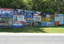 Peterborough County's proposed new sign by-law is intended to prevent the proliferation of commercial signs along county roadsides, especially in natural areas. County council has extended the public consultation period on the proposed by-law until January 2018. (Photo: Peterborough County)