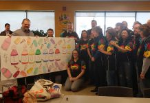 On November 23, 2017, Crayola Canada announced it had achieved its goal to break $1 million mark in funds raised for the United Way for the City of Kawartha Lakes over the past 29 years. (Photo: United Way of City of Kawartha Lakes)