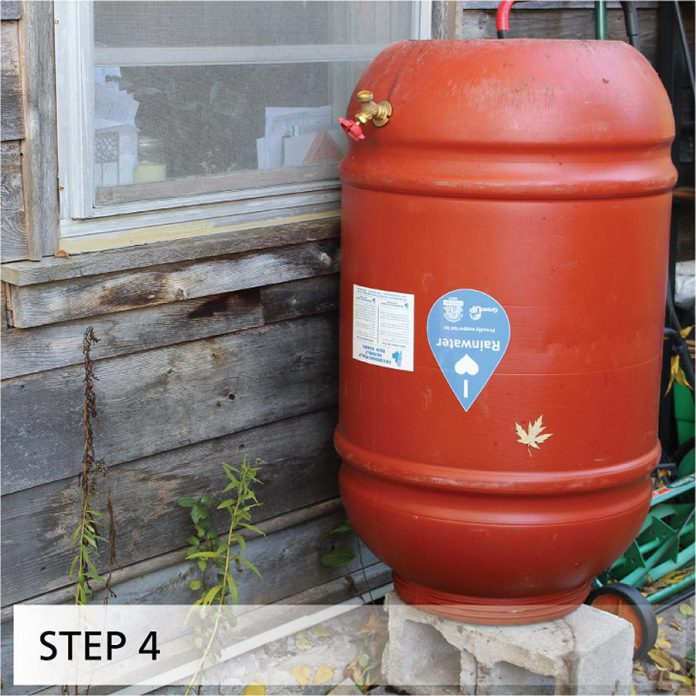 Store your barrel upside-down in a shed or garage or a sheltered area outside