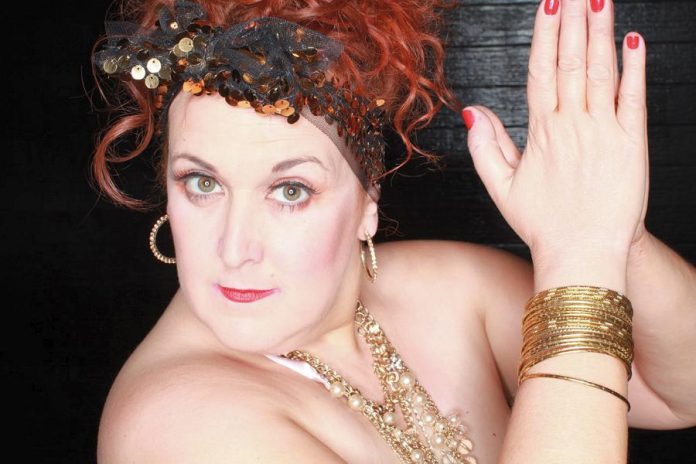 "Sharron Matthews, Canada's leading cabaret artist, is hosting New Stages ""Hits and Misses"" on Saturday, November 18 at the Market Hall in downtown Peterborough. The evening of music and comedy also stars Kate Suhr, Shannon McCracken, Beau Dixon, Linda Kash, Deborah Kimmett, and Steve Ross. (Photo courtesy of Sharron Matthews)"