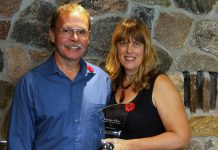 Jennie MacKenzie, the Kawartha Chamber of Commerce & Tourism's Citizen of The Year, with her husband John.
