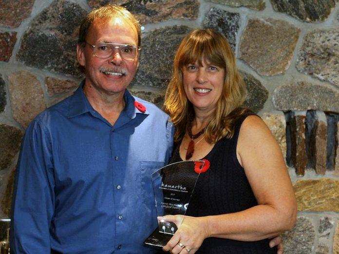 Jennie MacKenzie, the Kawartha Chamber of Commerce & Tourism's Citizen of The Year, with her husband John.