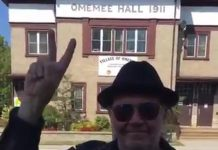 "Neil Young in Omemee in September 2017, from a video he posted on social media. There's speculation that Omemee is the location for Young's recently announced ""Somewhere In Canada"" concert to be live-streamed on December 1st."