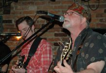 Jan Schoute performing with Sam Weber at the Historic Red Dog Tavern in April 2005. A celebration of the life of the much-loved Peterborough musician, who passed away unexpectedly at the age of 54, will be held at 7 p.m. on Sunday, November 12 at the Red Dog in downtown Peterborough. (Photo: Peterborough Jams)