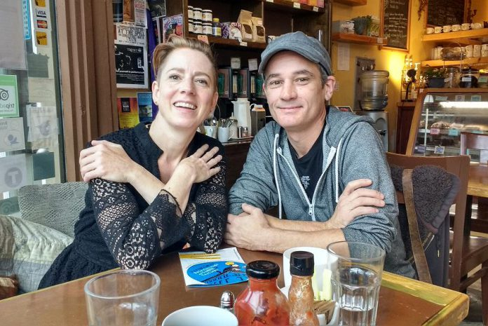 Precarious Festival organizers Kate Story and Ryan Kerr. (Photo: Sam Tweedle / kawarthaNOW.com)