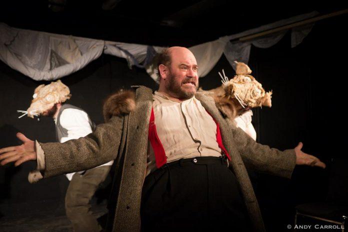 "In Kate Story's ""Festivus Rattus Rattus 2035!"", Brad Brackenridge portrays the greedy mayor of a post-apocalyptic Peterborough. (Photo: Andy Carroll)"