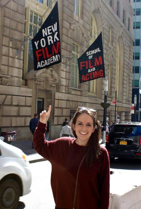Peterborough filmmaker and screenwriter Carley Smale in New York. (Photo courtesy of Carley Smale)