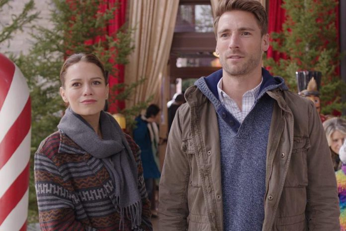 """Bethany Joy Lenz and Andrew Walker star in """"Snowed-Inn Christmas"""", which premieres on December 16 on the Lifetime channel. Peterborough's Carley Smale wrote the screenplay for the film, which was directed by Gary Yates. (Publicity photo)"""