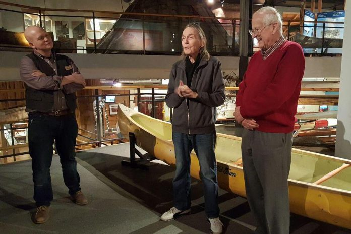 Aside from Neil Young, the other Canadian musical icon who was in the Kawarthas in December was Gordon Lightfoot, who was at The Canadian Canoe Museum to donate three of his canoes to the museum. (Photo: Jeannine Taylor / kawarthaNOW.com)