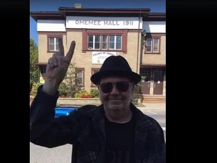 Neil Young, who posted this photo on social media of himself in Omemee on September 23, was also spotted in downtown Peterborough on September 22. (Photo: Neil Young)