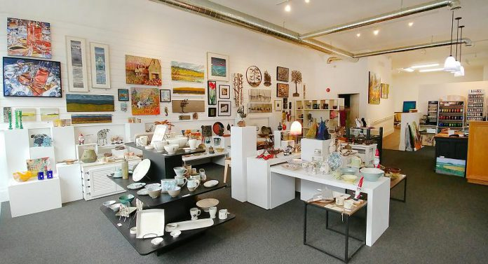Since META4 Contemporary Craft Gallery opened at 164 Hunter Street West in downtown Peterborough in November, it has quickly become a top destination for fine art and craft. The retail gallery offers a compelling selection of work by over 120 of Ontario's finest artists and artisans. (Photo: Paula Kehoe / kawarthaNOW.com)